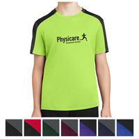 355411229-816 - Sport-Tek® Youth PosiCharge® Competitor™ Sleeve-Blocked Tee - thumbnail