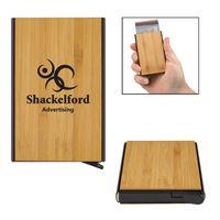355976124-816 - Bamboo RFID Data Blocking Card Holder - thumbnail