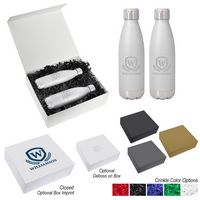 356131553-816 - 16 Oz. Iced Out Swiggy Stainless Steel Bottle Gift Set - thumbnail