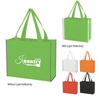 365803037-816 - Laminated Reflective Non-Woven Shopper Bag - thumbnail