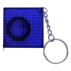 366101828-816 - Reflective Tape Measure Key Chain - thumbnail