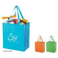 373415726-816 - Shiny Laminated Non-Woven Tropic Shopper Tote Bag - thumbnail