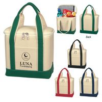 394964626-816 - Small Cotton Canvas Cooler Bag - thumbnail