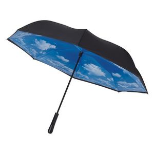 "505760455-816 - 48"" Arc Blue Skies Inversion Umbrella - thumbnail"