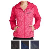 515409065-816 - Sport-Tek® Ladies' Heather Colorblock Raglan Hooded Wind Jacket - thumbnail