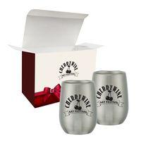525782275-816 - 9 Oz. Stemless Wine Glass Set In Custom Box - thumbnail