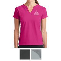 535551471-816 - Nike Ladies Dri-FIT Stretch Woven V-Neck Top - thumbnail