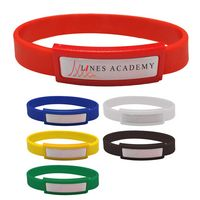 565186973-816 - Silicone Wristband With Dome - thumbnail