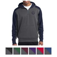 565459213-816 - Sport-Tek® Tech Fleece Colorblock 1/4-Zip Hooded Sweatshirt - thumbnail