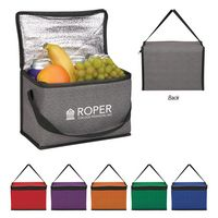 585786859-816 - Heathered Non-Woven Cooler Lunch Bag - thumbnail