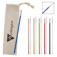 586131561-816 - Park Avenue Stainless Straw Kit with Cotton Pouch - thumbnail