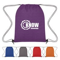 595805827-816 - Heathered Non-Woven Drawstring Backpack - thumbnail
