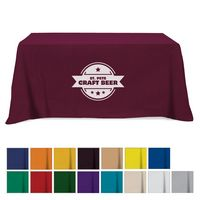 705161002-816 - Flat Poly/Cotton 3-sided Table Cover - fits 6' standard table - thumbnail
