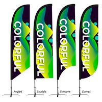725685555-816 - Medium 13' Custom Feather Flag - thumbnail