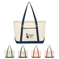 734002311-816 - Large Cotton Canvas Sailing Tote Bag - thumbnail