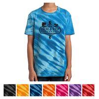 745353444-816 - Port & Company® Youth Tiger Stripe Tie-Dye Tee - thumbnail