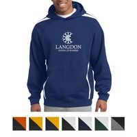 745549861-816 - Sport-Tek® Sleeve Stripe Pullover Hooded Sweatshirt - thumbnail