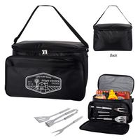 766050042-816 - Backyard BBQ Set In Cooler Bag - thumbnail