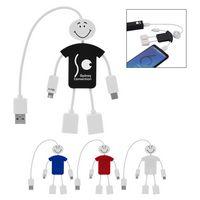 766299533-816 - Techmate 3-In-1 Charging Cable & USB Hub - thumbnail