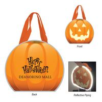 775632337-816 - Reflective Halloween Pumpkin Non-Woven Tote Bag - thumbnail