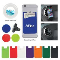 785153647-816 - Silicone Magnetic Auto Air Vent Phone Wallet - thumbnail