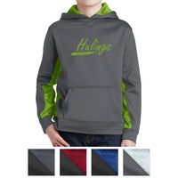 785427878-816 - Sport-Tek® Youth Sport-Wick® CamoHex Fleece Colorblock Hooded Pullover - thumbnail