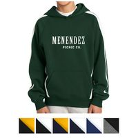 785489951-816 - Sport-Tek® Youth Sleeve Stripe Pullover Hooded Sweatshirt - thumbnail