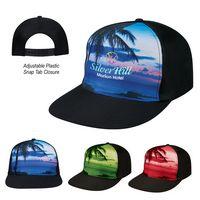 795620294-816 - Tropical Flat Bill Cap - thumbnail