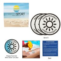 796158364-816 - 3-Pack Sunburn Alert UV Color-Changing Stickers With Custom Pack - thumbnail