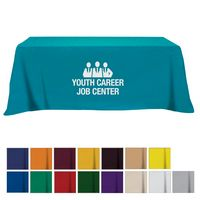 905161005-816 - Flat Poly/Cotton 4-sided Table Cover - fits 8' standard table - thumbnail