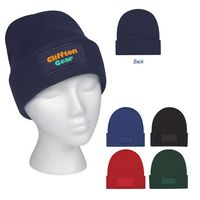 915498978-816 - Patch Knit Beanie With Cuff - thumbnail