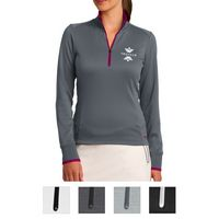 925551506-816 - Nike Ladies' Dri-FIT 1/2-Zip Cover-Up - thumbnail