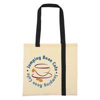 934586326-816 - Striped Economy Cotton Canvas Tote Bag - thumbnail