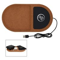 936241100-816 - Cork Wireless Charging Pad Desktop Organizer - thumbnail