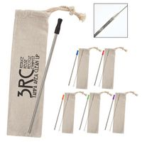 956131557-816 - Stainless Straw Kit With Cotton Pouch - thumbnail