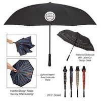 "985770113-816 - 48"" Arc Tartan Inversion Umbrella - thumbnail"