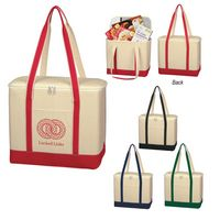 994964625-816 - Large Cotton Canvas Cooler Bag - thumbnail