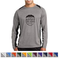 995437246-816 - Sport-Tek® Long Sleeve Heather Colorblock Contender™ Tee - thumbnail