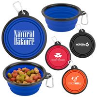 115636576-169 - Collapsible Silicone Pet Bowl w/Carabiner - thumbnail