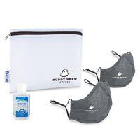 176276536-112 - Reusable Face Mask and Hand Sanitizer Kit - Gunmetal Grey - thumbnail