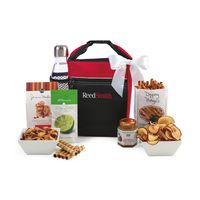 355679822-112 - Spirited Gourmet Lunch Break Cooler with Geyser Bottle Gift Set Red - thumbnail