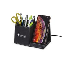 506451574-112 - Truman Wireless Charging Pencil Cup - Black - thumbnail