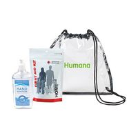 546338596-112 - American Red Cross Home First Aid Zip Kit and Hand Sanitizer Bundle - Clear - thumbnail