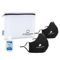 576276537-112 - Reusable Face Mask and Hand Sanitizer Kit - Black - thumbnail