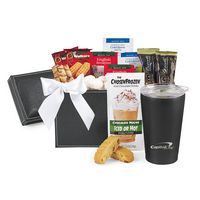 705679670-112 - Executive Gourmet Keepsake Box & Aviana™ Gift Set Black - thumbnail