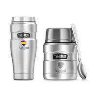 775358904-112 - Thermos® Stainless King™ Travel Gift Set Silver - thumbnail