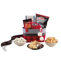 775774600-112 - Cozy Holiday Treats Tote Red-Black - thumbnail