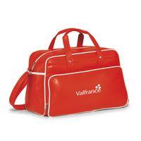 793685443-112 - Vintage Weekender Bag Red-White - thumbnail