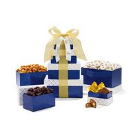 905774618-112 - Classic Gourmet Treats Tower Navy-White-Gold - thumbnail