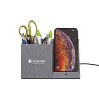 906451575-112 - Truman Wireless Charging Pencil Cup - Medium Grey Heather - thumbnail